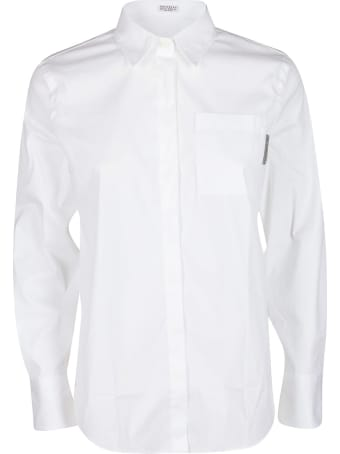 Brunello Cucinelli White Cotton Blend Shirt