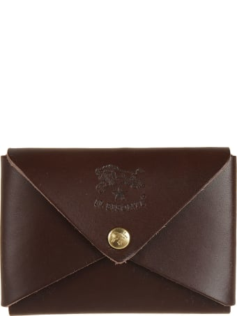 Il Bisonte Embossed Logo French Wallet
