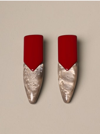 Giorgio Armani Jewel Giorgio Armani Earrings In Bicolor Resin