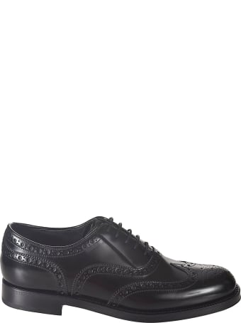 Prada Perforated Oxford Shoes