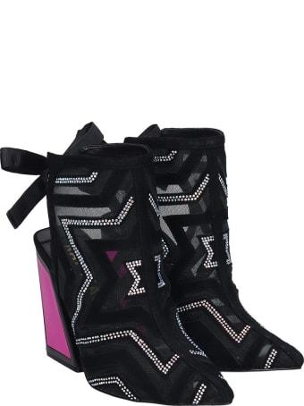 Kat Maconie Bibi Sandals In Black Suede