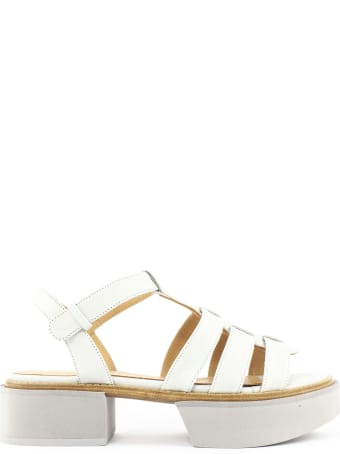 Paloma Barceló Dust-tone Leather Ivai Sandals