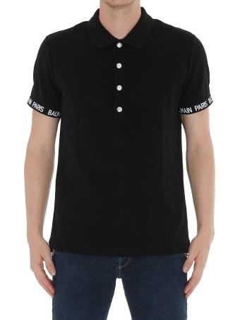 Balmain Polo T-shirt With Logo Balmain Paris