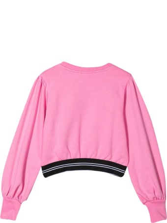 MSGM Pink Cropped Teen Sweatshirt