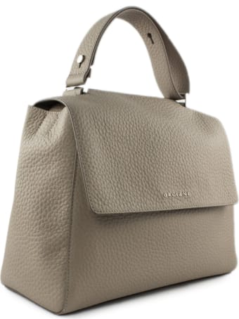 Orciani Beige Leather Sveva Bag