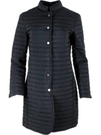 Moorer Light Coat In Real Slim Goose Down With Concealed Pockets. Matte Color