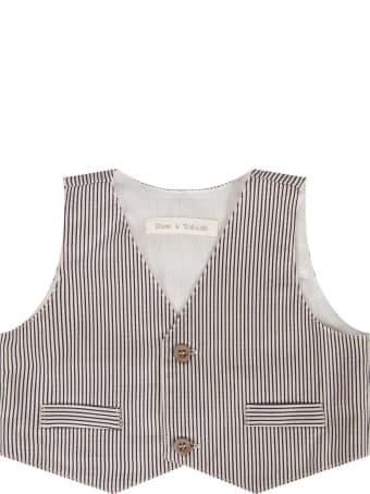 Zhoe & Tobiah Blue And White Babyboy Vest