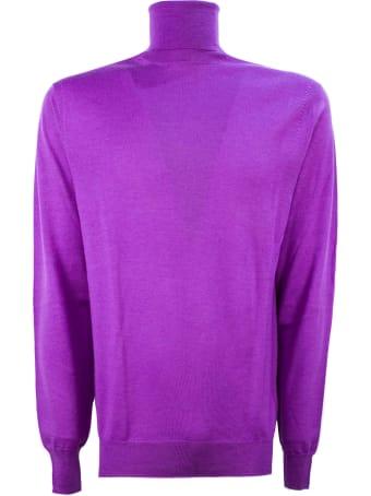 Hosio Purple Virgin Wool Sweater