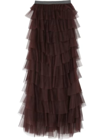 Fabiana Filippi Gathered Tulle Skirt