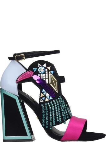 Kat Maconie Aya Sandals In Black Tech/synthetic
