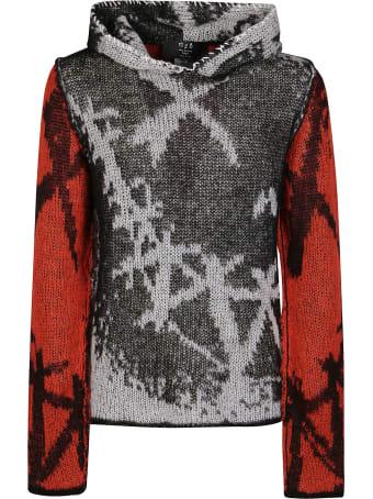 Marc Jacques Burton Black And Red Mohair Blend Sweatshirt
