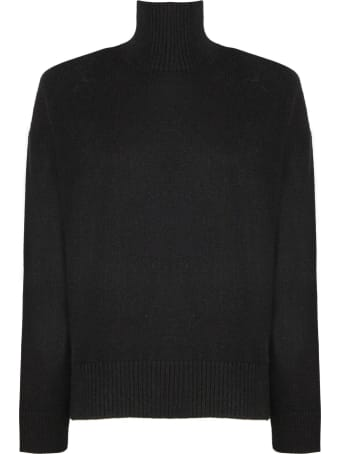 Laneus Black Wool-angora Blend Sweater