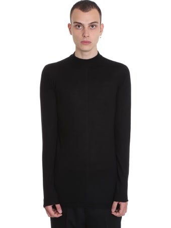 Rick Owens Level Lupetto Knitwear In Black Wool