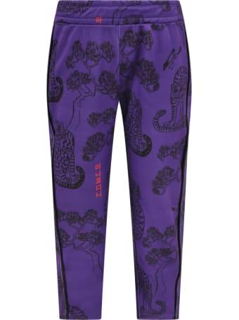 Mini Rodini Purple Trouser For Kids With Tigers