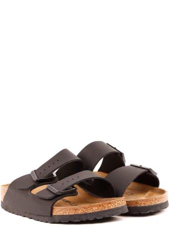 Birkenstock Black Leather Double-strap Sandals
