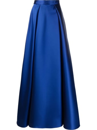 Alberta Ferretti Royal Blue A-line Maxi Skirt