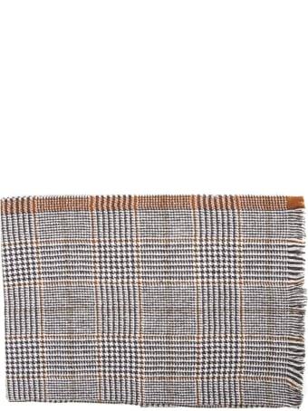 Eleventy Grey And Beige Wool Scarf