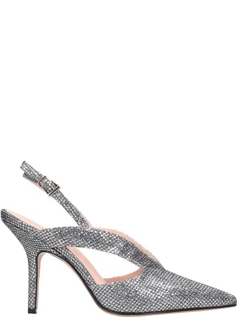Anna F. Pumps In Silver Leather