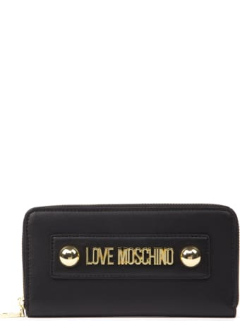 Love Moschino Love Moschino Black Ecoleather Wallet