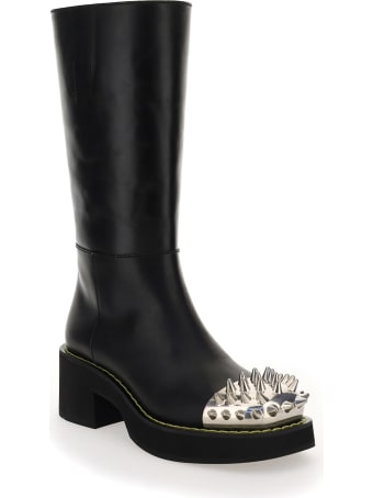 Miu Miu Studded Leather Boots