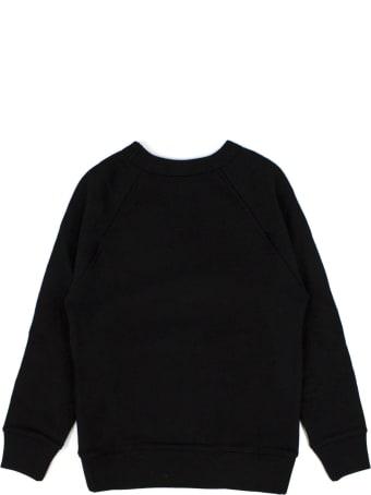 Gucci Black Felted Cotton Jersey Sweatshirt
