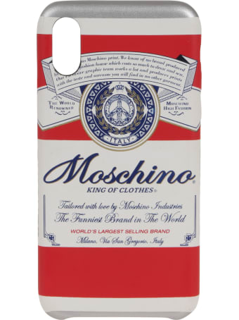 Moschino Cover Compatible With I Phone Xs And X Cover With Exclusive Grafic Print