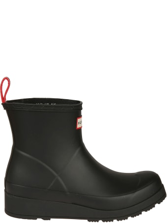 Hunter Logo Ankle Boots