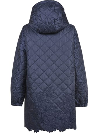 Ermanno Scervino Quilted Floral Embroidered Raincoat