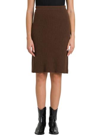 Federica Tosi Ribbed Knit Midi Skirt