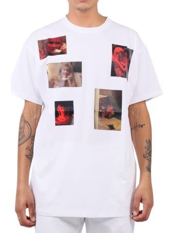 Raf Simons White Laura Dern T-shirt