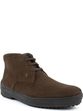 Tod's Desert Boots In Brown Suede