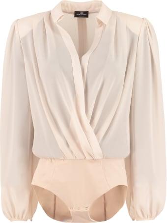 Elisabetta Franchi Celyn B. Crossover V-neck Body-shirt