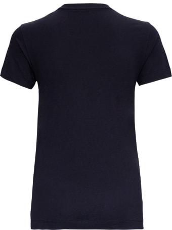 Moncler Jersey T-shirt With Logo Inlay