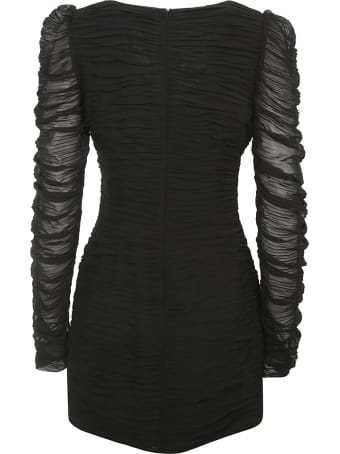 Magda Butrym Lace Sleeved Short Dress