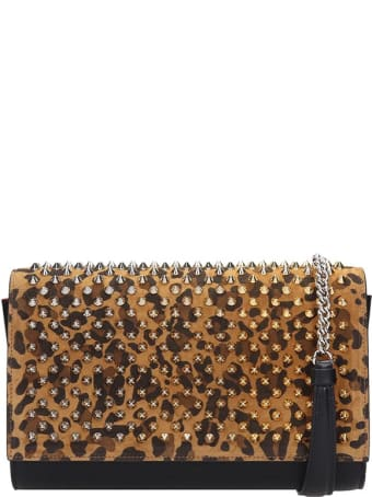Christian Louboutin Paloma Shoulder Bag In Black Suede And Leather