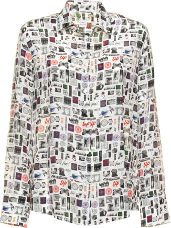 Paul Smith Paul Smith Silk Blouse In Picture Print