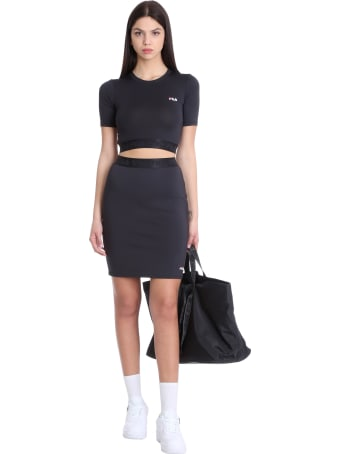 Fila Chess Skirt In Black Polyester