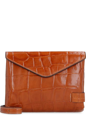 STAUD Holly Convertible Leather Clutch