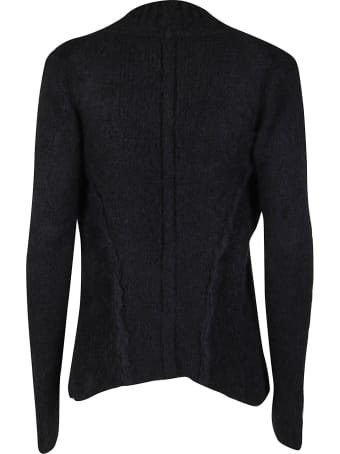 Ann Demeulemeester Black Alpaca-merino Wool Cardigan