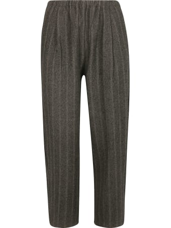 A Punto B Striped Cropped Trousers
