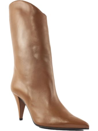 Aldo Castagna Tobacco Leather Pippi Boot