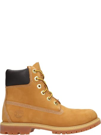 Timberland 6in Prem Combat Boots In Yellow Nubuck