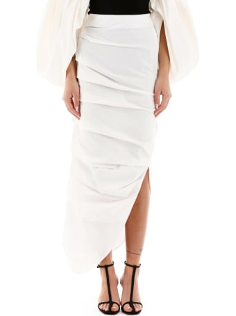 A.W.A.K.E. Mode Draped Midi Skirt