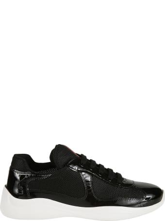Prada Linea Rossa Mesh Paneled Sneakers