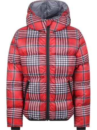 Colmar Check Jacket For Kids With Logo