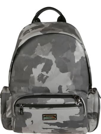 Dolce & Gabbana Camouflage Padded Backpack