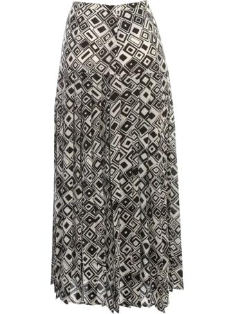 RIXO Skirt Pleated Midi