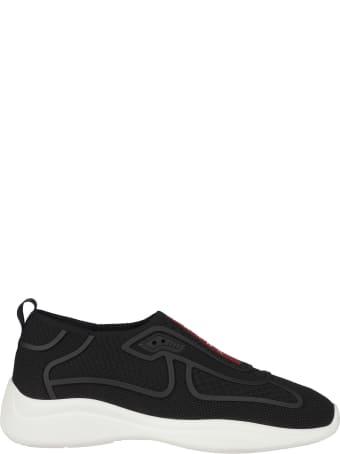 Prada Linea Rossa Logo Laceless Sneakers
