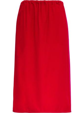 Marni Red Pencil Skirt