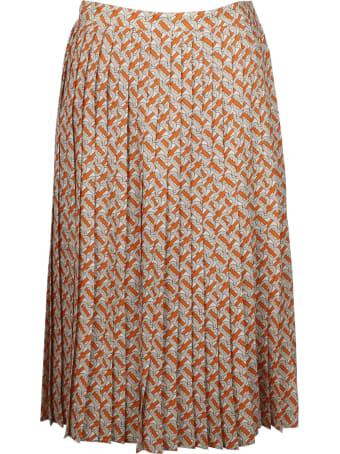 Burberry Monogram Folded Skirt